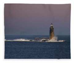 Surf At Ram Island Ledge Fleece Blanket