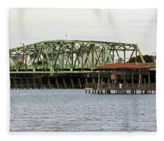 Surf City Swing Bridge Fleece Blanket