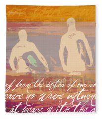 Surf From The Depths Of Our Soul Fleece Blanket