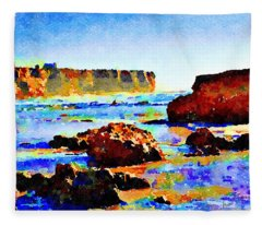 Surf The Headlands Fleece Blanket