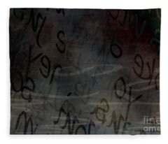 Surfacing Words Fleece Blanket