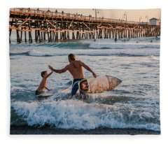Surfboard Inspirational Fleece Blanket