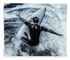 Surfers Cross Fleece Blanket