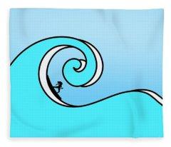 Surfing The Wave Fleece Blanket