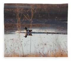 Fleece Blanket featuring the pyrography Surfs Up by Michael Lucarelli