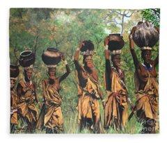 Blaa Kattproduksjoner        Surma Women Of Africa Fleece Blanket