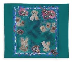 Surreal Lake Art And Poem Fleece Blanket