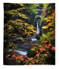 Surrounded By Fall Fleece Blanket