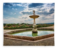 The Monkeys Fountain At The Gardens Of The Knight In Florence, Italy Fleece Blanket
