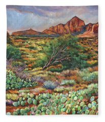Surrounded By Sedona Fleece Blanket