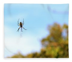 Suspended Spider Fleece Blanket