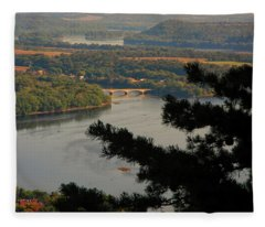 Susquehanna River Below Fleece Blanket