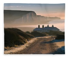 Sussex Coast Guard Cottages Fleece Blanket