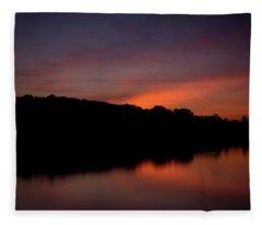 Suwannee Sundown Fleece Blanket