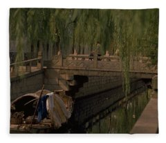 Suzhou Canals Fleece Blanket