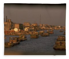 Suzhou Grand Canal Fleece Blanket