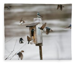 Swallows Fleece Blanket