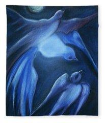 Swallows Fleece Blanket