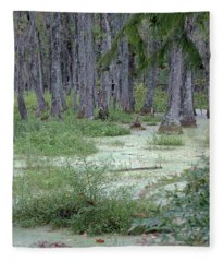 Swamp Garden At Magnolia Plantation And Gardens Fleece Blanket