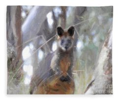 Swamp Wallaby Fleece Blanket