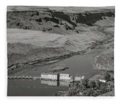 Swan Falls Dam Fleece Blanket