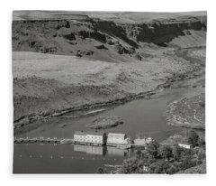 Swan Falls Dam Fleece Blanket