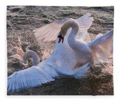 Nuptial Dance 3 Fleece Blanket