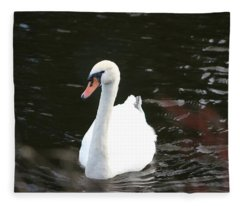 Swans-a-swimming Fleece Blanket