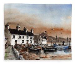 Sweeney,s Pier, Coraun, Mayo.. X116 Fleece Blanket