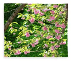 Sweeping Cherry Blossom Branches Fleece Blanket