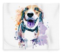 Sweet Beagle Fleece Blanket