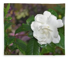 Sweet Gardenia Fleece Blanket
