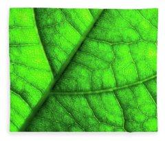 Sweet Green Leaf Fleece Blanket