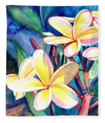 Sweet Plumeria 4 Fleece Blanket