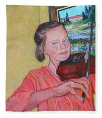 Sweet String Serenade Fleece Blanket