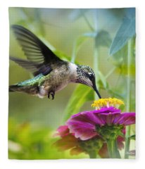 Sweet Success Hummingbird Square Fleece Blanket