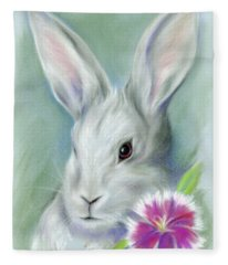 Sweet William Bunny Rabbit Fleece Blanket