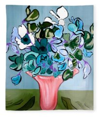 Sweetpeas Fleece Blanket