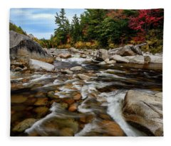 Swift River Autumn Nh Fleece Blanket