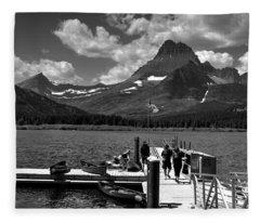 Swiftcurrent Lake 2 Fleece Blanket