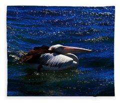 Swim In The Ocean Fleece Blanket