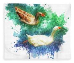 Swimming Through Life Fleece Blanket