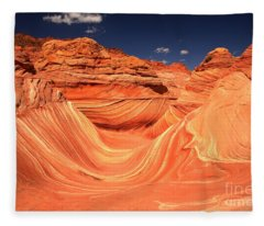 Swirls And Buttes At The Wave Fleece Blanket
