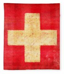 Switzerland Flag Fleece Blanket
