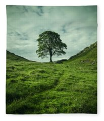 Sycamore Gap Fleece Blanket