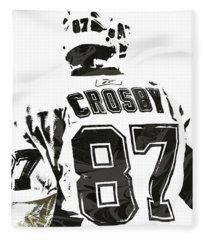 Sydney Crosby Pittsburgh Penguins Pixel Art 2 Fleece Blanket