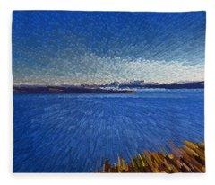 Sydney From North Head Fleece Blanket