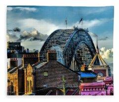 Sydney Harbor Bridge Fleece Blanket