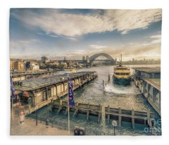 Sydney Harbor I Fleece Blanket