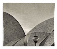 Sydney Opera House Roof Detail Fleece Blanket